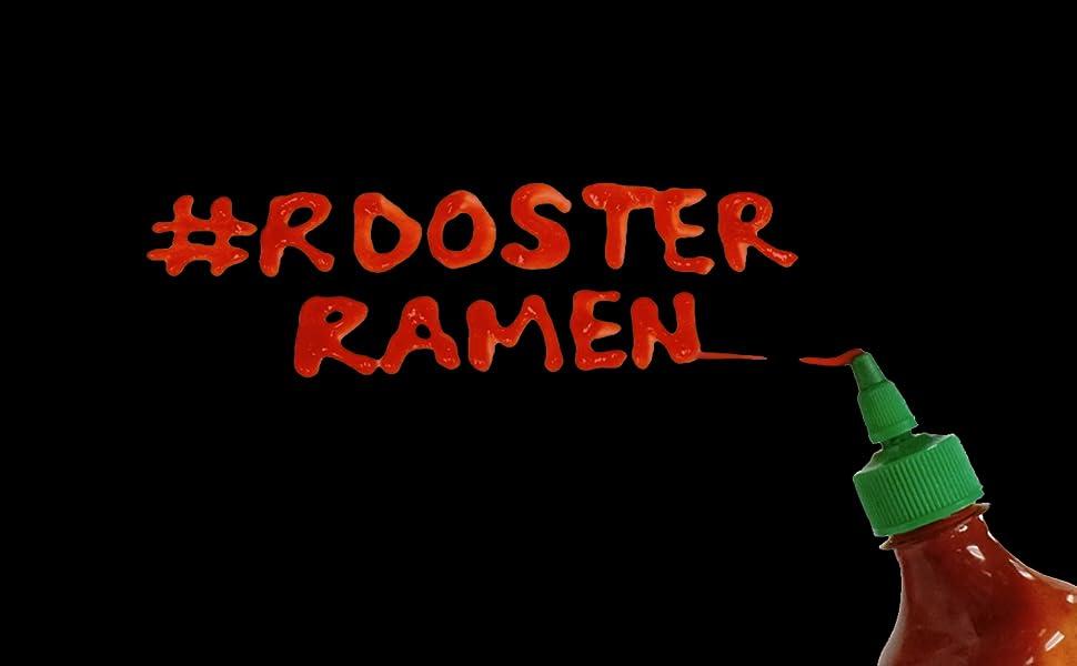 rooster ramen huy fong sriracha hot saucer