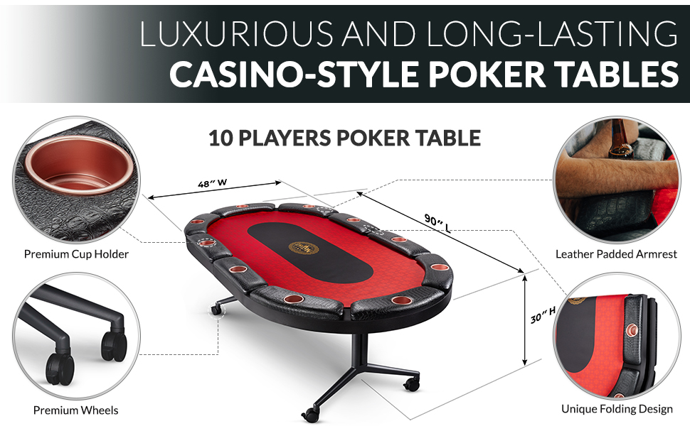 Casino Style Poker Gaming Tables With Table Top