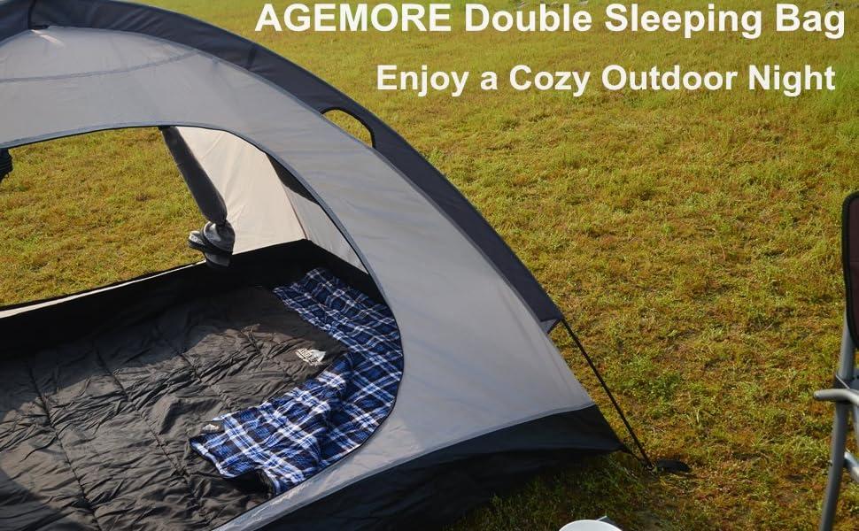 AGEMORE double sleeping bag