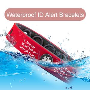 Waterproof ID Alert Bracelets