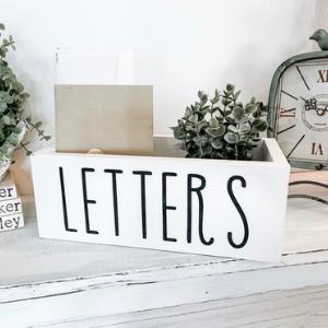 White Letter Holder