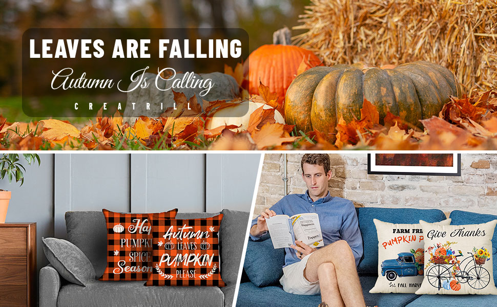 fall pillow case covers