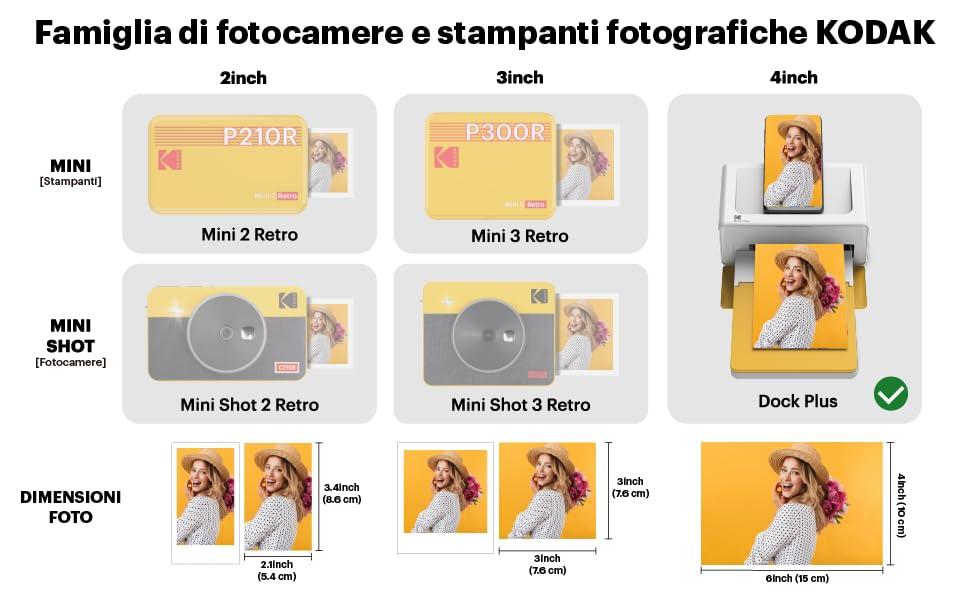 kodak dock plus instantanea stampante impresora  polaroid impresora de fotos impresora portátil