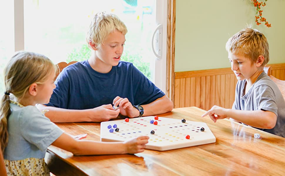 Aggravation Board, Wooden, Wahoo, Family Game, Double-Sided, Maple Wood