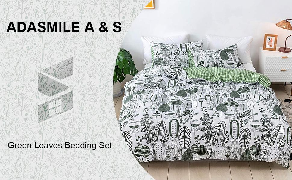 leaves bedding set