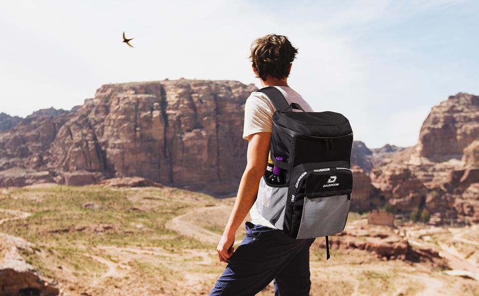 hiking with DAUSROOB cooler bag