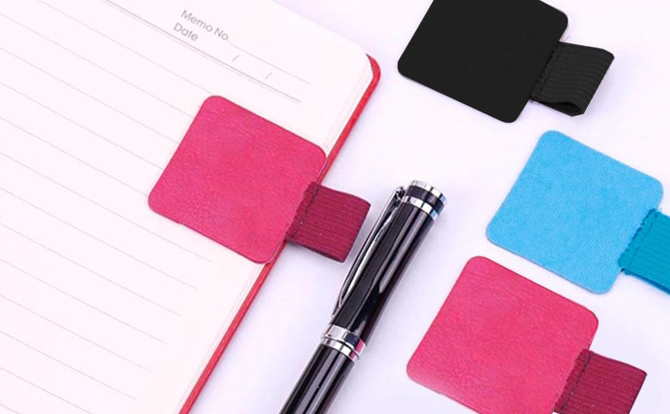 adhesive pen holder for notebook