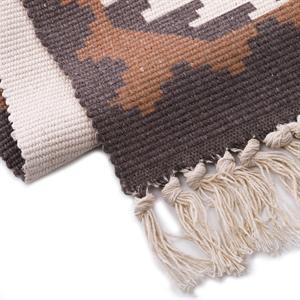 Boho Print Tassels Throw Runner Rug Cotton Floor Mat