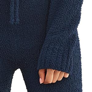 Two-piecce Pj loungewear set girls cozy house wear fleece fuzzy soft nightwear