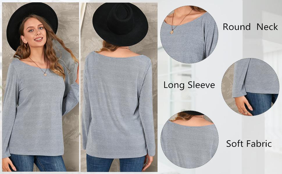 long sleeve jumper loose t shirt tops