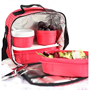 lunch bag with containers
