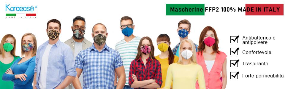 Mascherine FFP2 100% MADE IN ITALY
