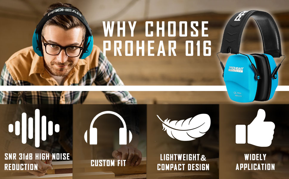low profile earcups SNR 31dB Lightweight comfort