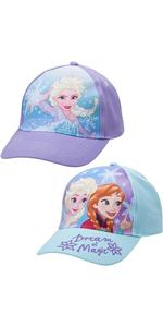 Frozen Baseball Caps - 2 Pack Elsa and Anna Glitter Hat