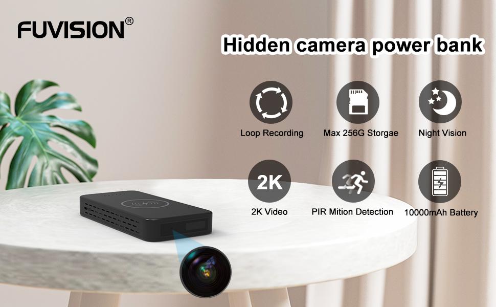 Hidden camera power bank