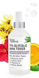 glycolic toner glycolic acid facial toner spray mist