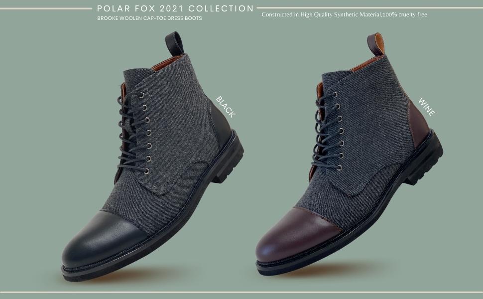 BROOKE, dress boots, woolen dress boots, taft boots, jack boots, taft jack boots