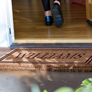 A beautiful Outdoor Floor Mat - Personalized to your Name