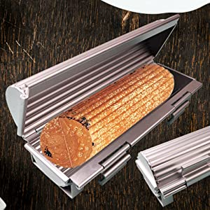 Our French bread baking pan is made from heavy aluminum alloy
