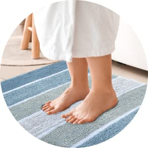Soft, warm and cozy bath rugs. Highly absorbent, perfect as a post shower or tubmat.
