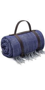 picnic blanket blue