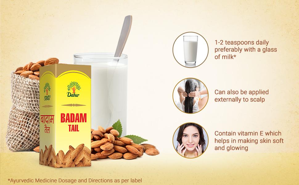 badam tail; 100% almond oil; glowing skin; badam roghan ; almond oil