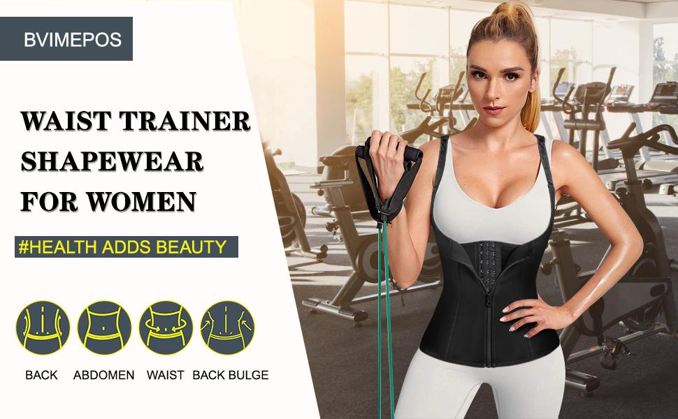 waist trainer zipper vest sports