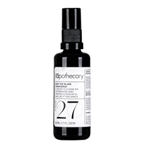 beat the blues room spray bottle black and white travel size