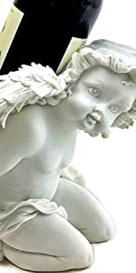 Angel cherub wine bottle holders table top stands for counter kitchen gifts funnu cute