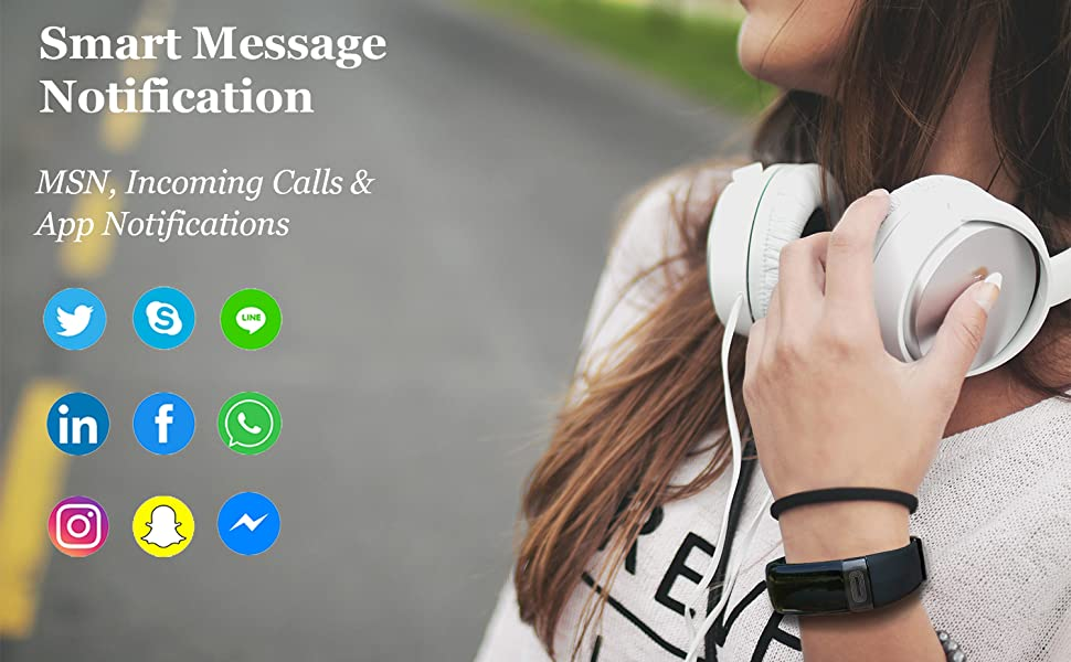 fitness watch for women with smart notification, such as MSN calls facebook twitter ins and so on