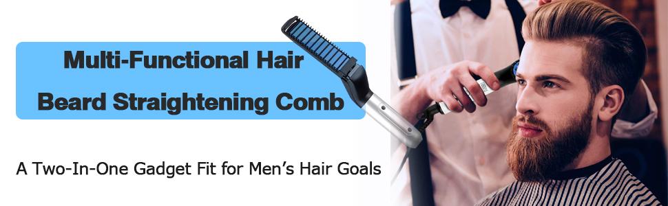 Beard Straightener for man multi-functional hair beard straightening comb