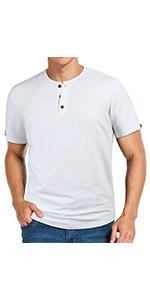 white henley shirt for men