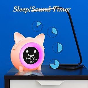Ready to Rise Children's Trainer kids Alarm Clock Night Light Sleep Sounds Machine