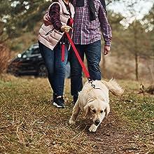 Kruz Premier 5ft Dog Mesh Leash, Puffy Puppy Cord, Reflective Heavy Duty Nylon Rope