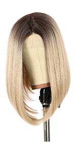 Ombre ash blonde bob wig