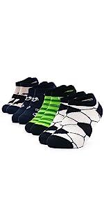 MOTIVO - Calcetines deportivos para niños, diseño de fútbol