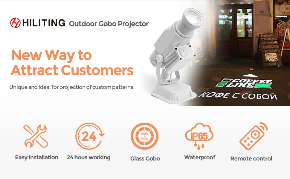 gobo projector custom logo light outdoor waterproof