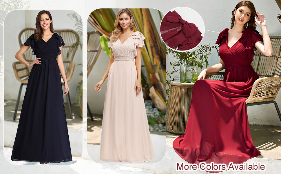 Ever-Pretty womens long evening dresses formal dresses wedding guest dresses dance party dresses