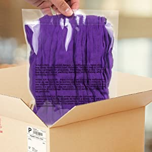 Self-Seal Poly Bags with Suffocation Warning