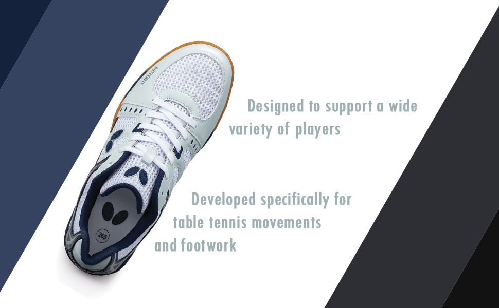 Table Tennis Shoes to Support a Wide Variety of Players
