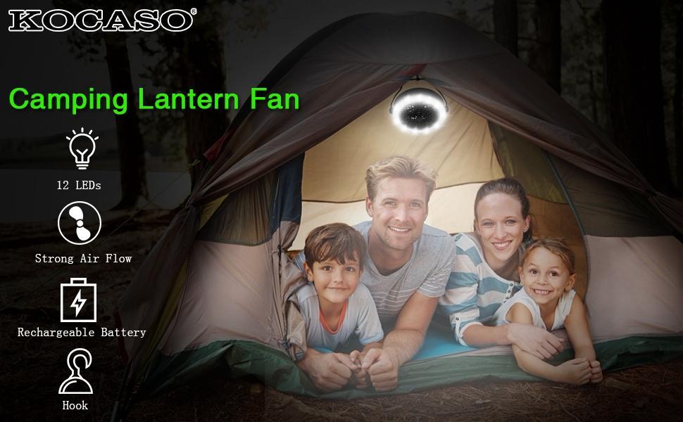 camping lantern fan