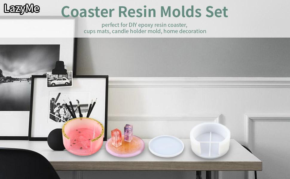 Silicone coaster resin mold