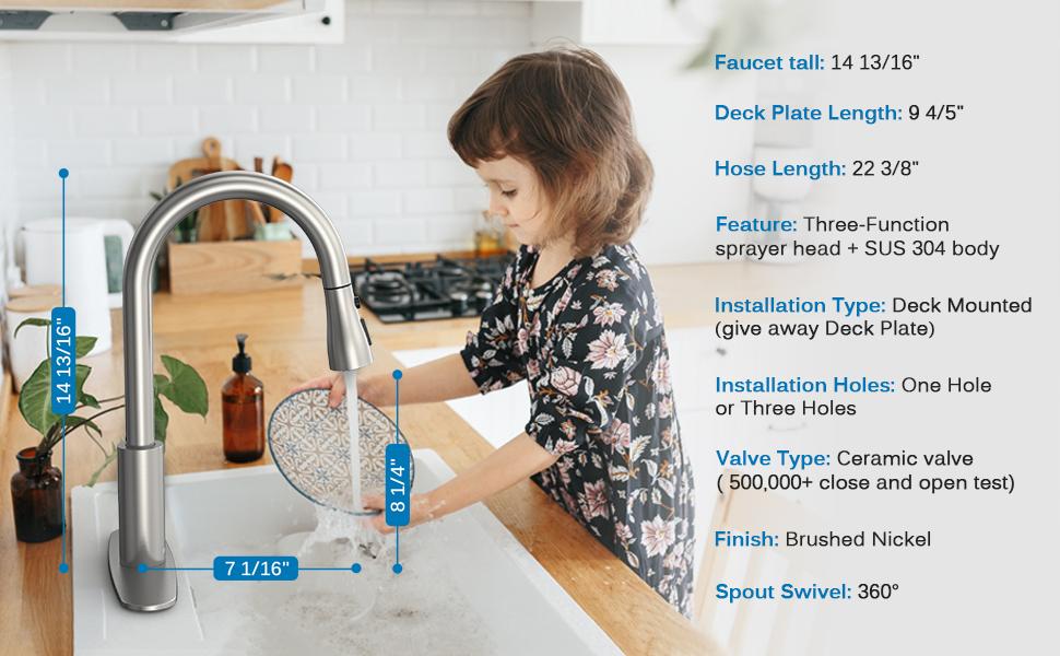 kitchen sink faucet Size