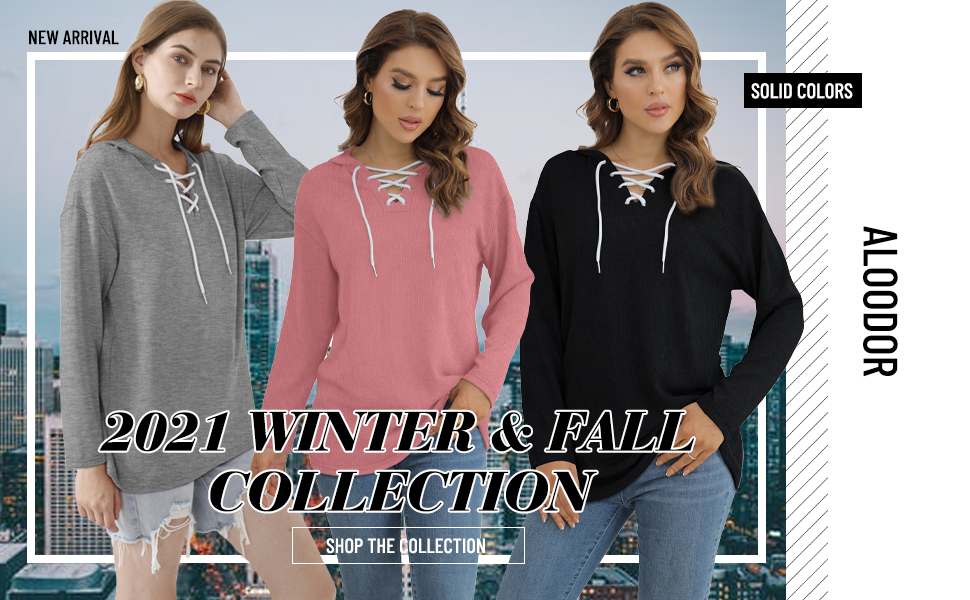 Womens Hoodies Pullover Tunic Sweatshirts to Wear with Leggings Black S
