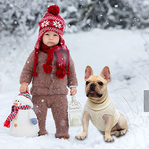 dog cable knit sweater