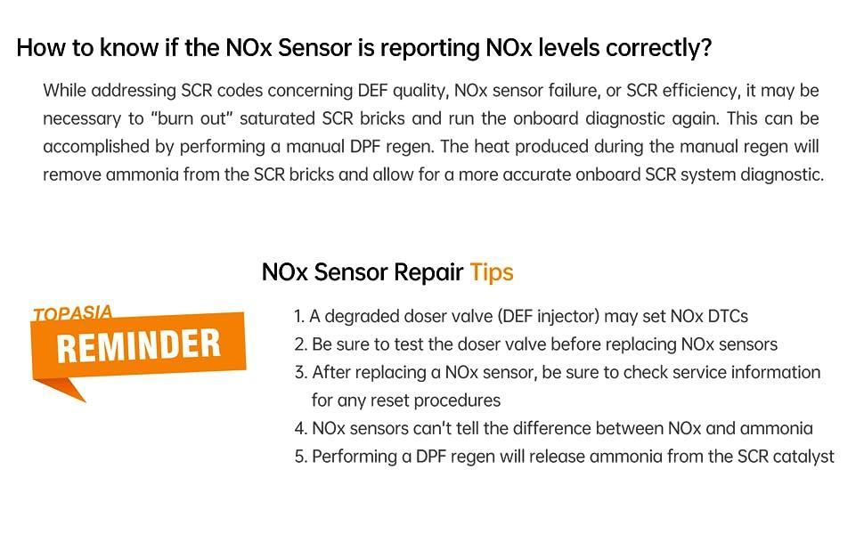 NOX SENSOR TIPS