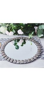 Glitter jeweled Charger Plates