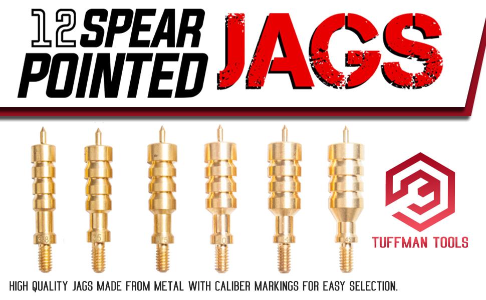 gun cleaning kit brass jags metal