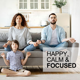 HCF Happy Calm Focus Concentration Memory Clarity Mood Stress Relax Anti-Stress Mind Brain Health