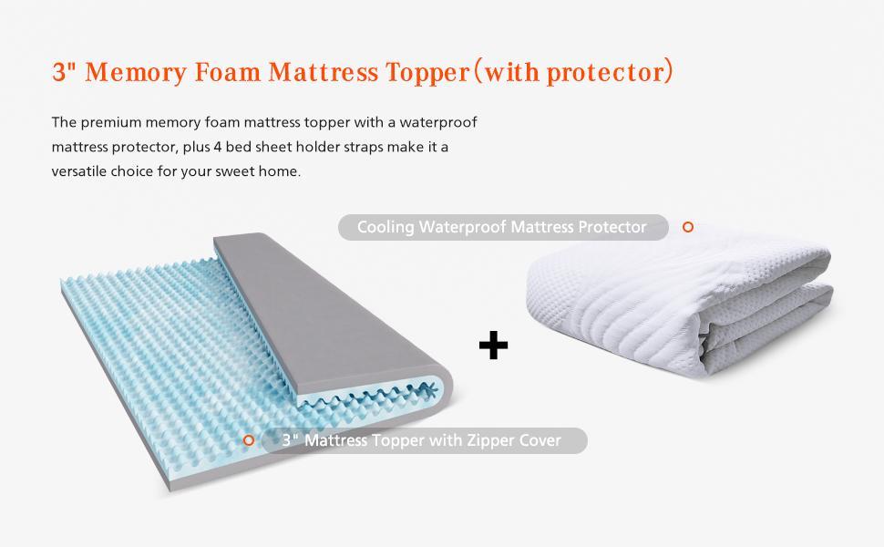 memory foam mattress topper twin full queen king size